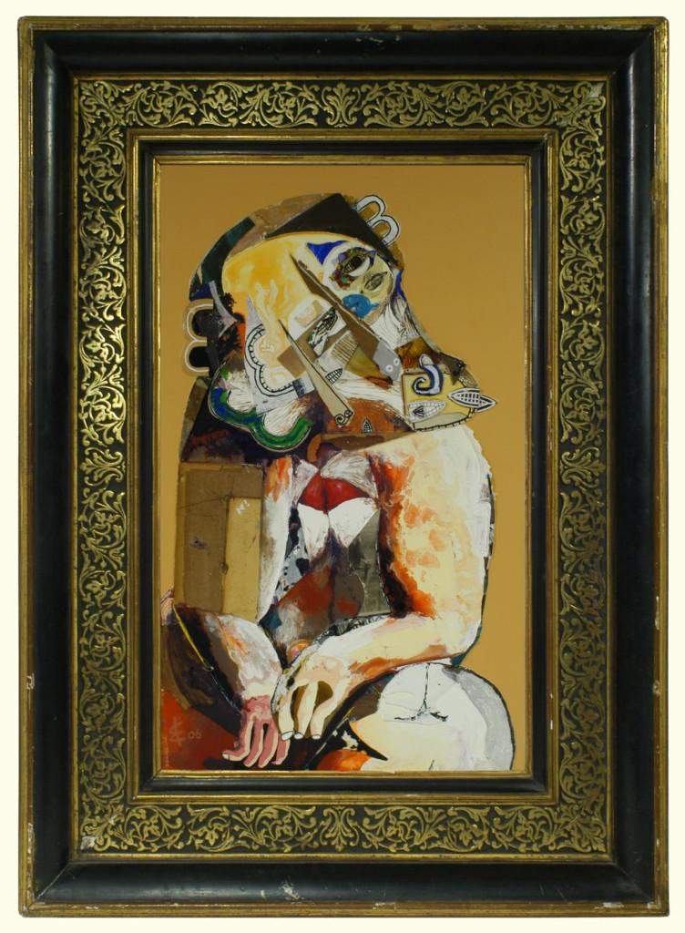 portrait of a gelada monkey
