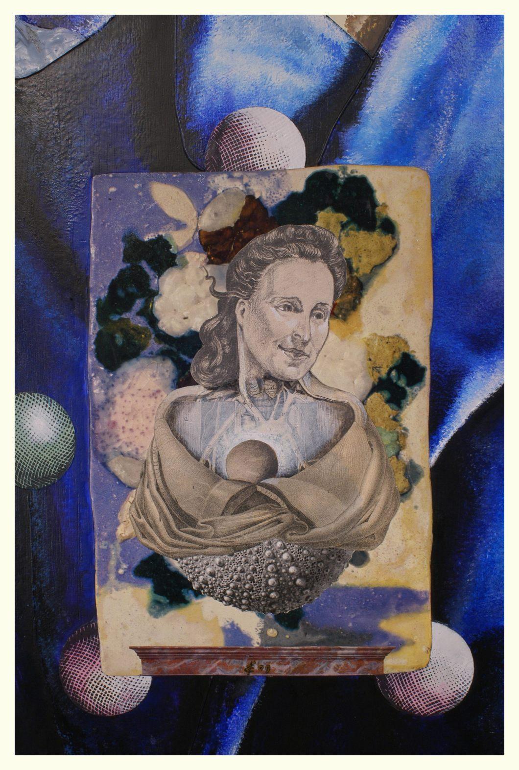 dali detail portret van gala